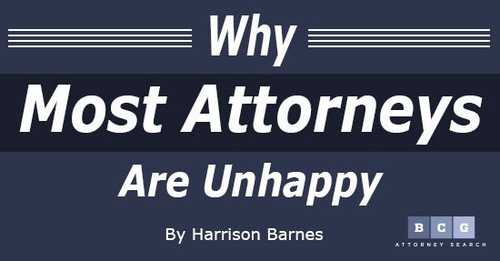 Why Most Attorneys Are Depressed and Unhappy
