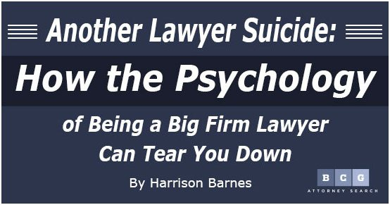 Learn why being an attorney causes depression and self-esteem issues in so many in this article.