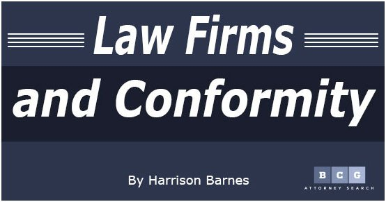 Many attorneys feel like a cog in a big machine as they are expected to conform in big law firms.