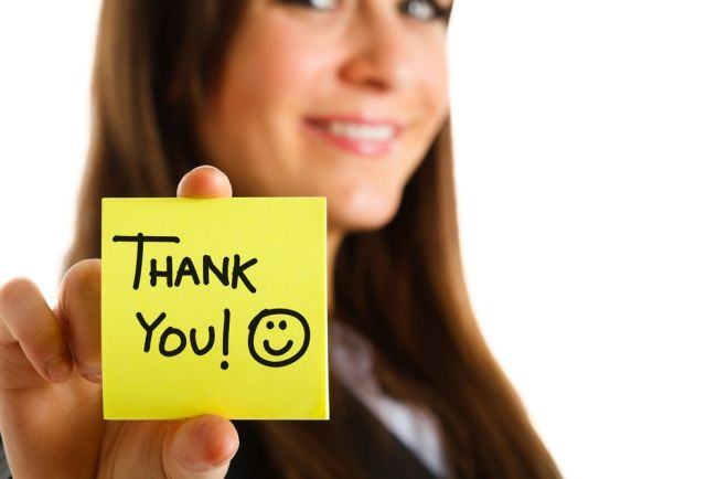 Do firms expect or even care about thank you notes?